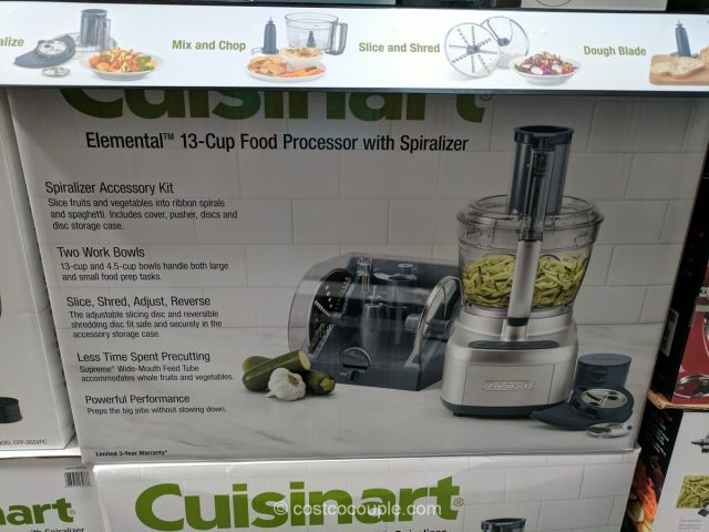 Cuisinart Elemental 13-Cup Food Processor With Spiralizer Costco