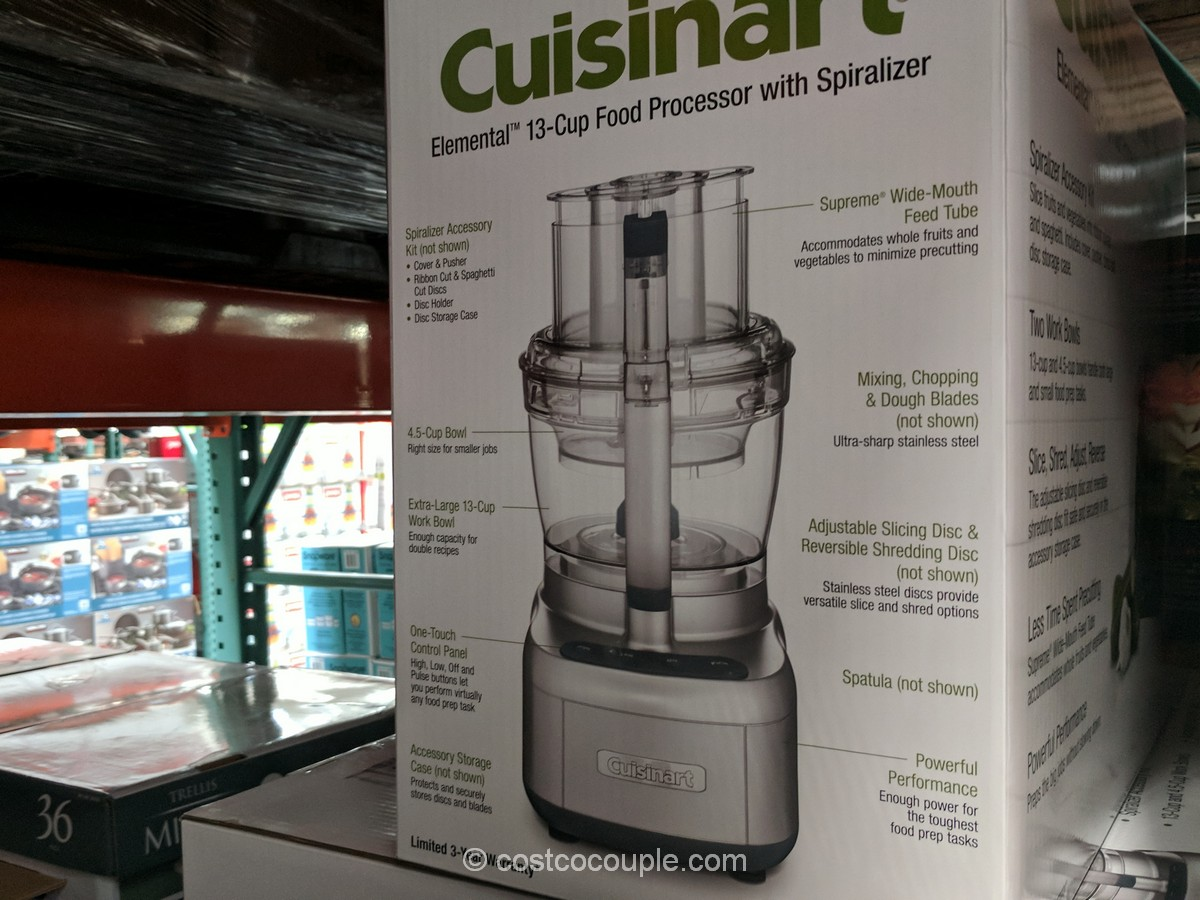 Cuisinart Elemental 13 Cup Food Processor With Spiralizer