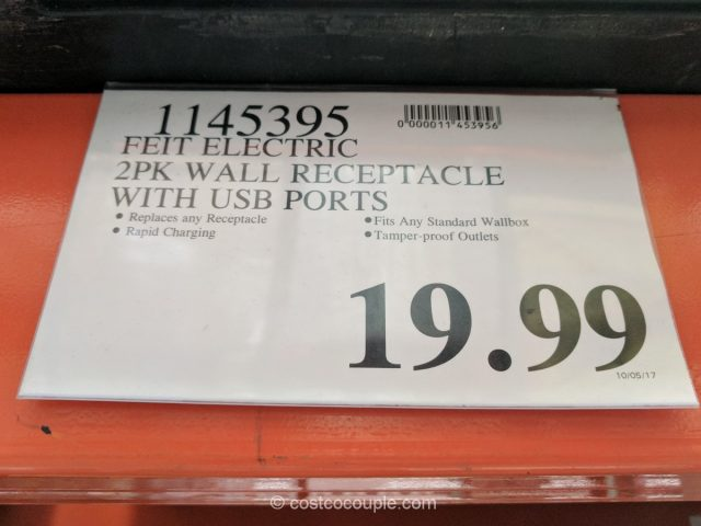 Feit Electric Wall Outlets with USB Ports Costco