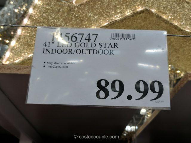 Gold Tinsel LED Star Costco