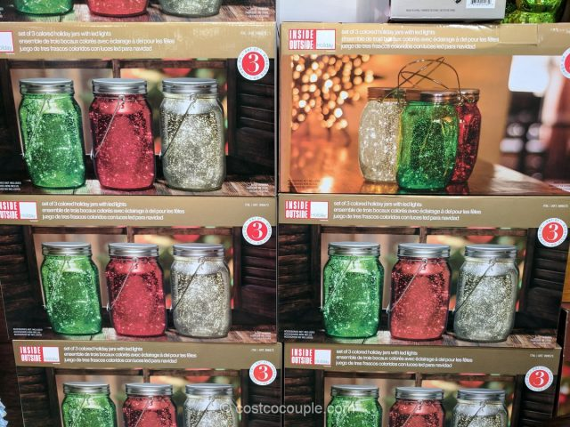 Holiday Jars with LED Lights Costco