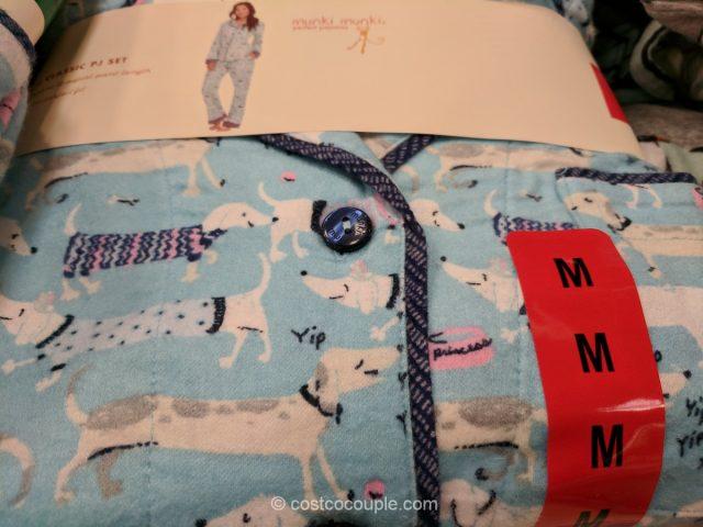 Munki Munki Ladies Classic Flannel Pajama Set Costco