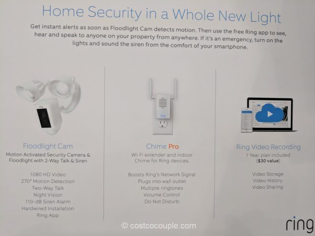 Ring Floodlight Camera and Chime Pro Costco