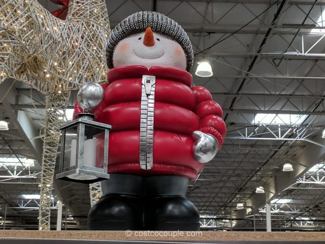 Standing Snowman with LED Lantern Costco