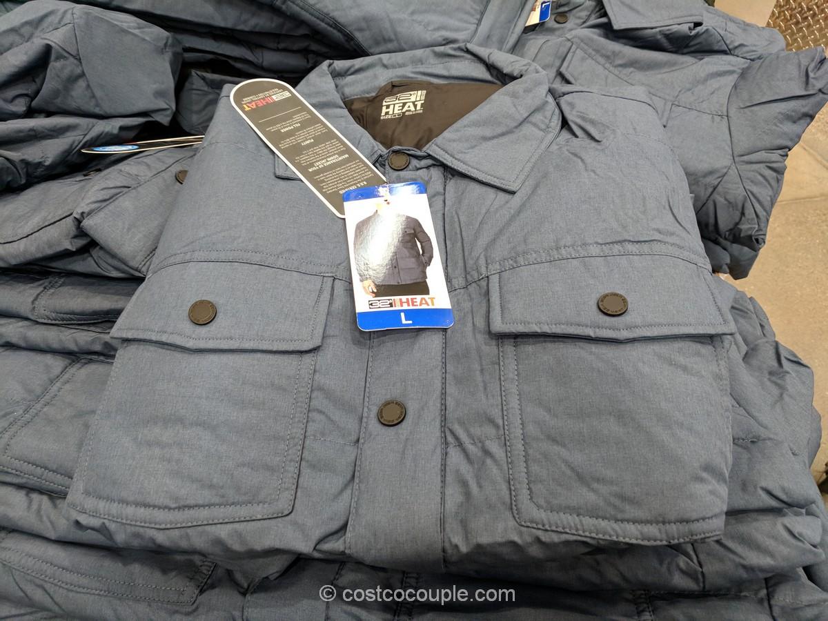 32 Degrees Men's Down Shirt Costco