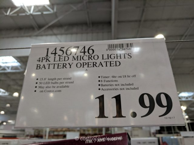 Battery Operated LED Micro Lights Costco