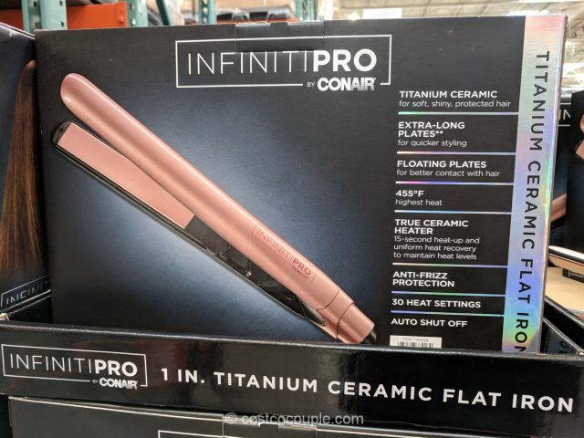 Conair InfinityPro Titanium Ceramic Flat Iron Costco