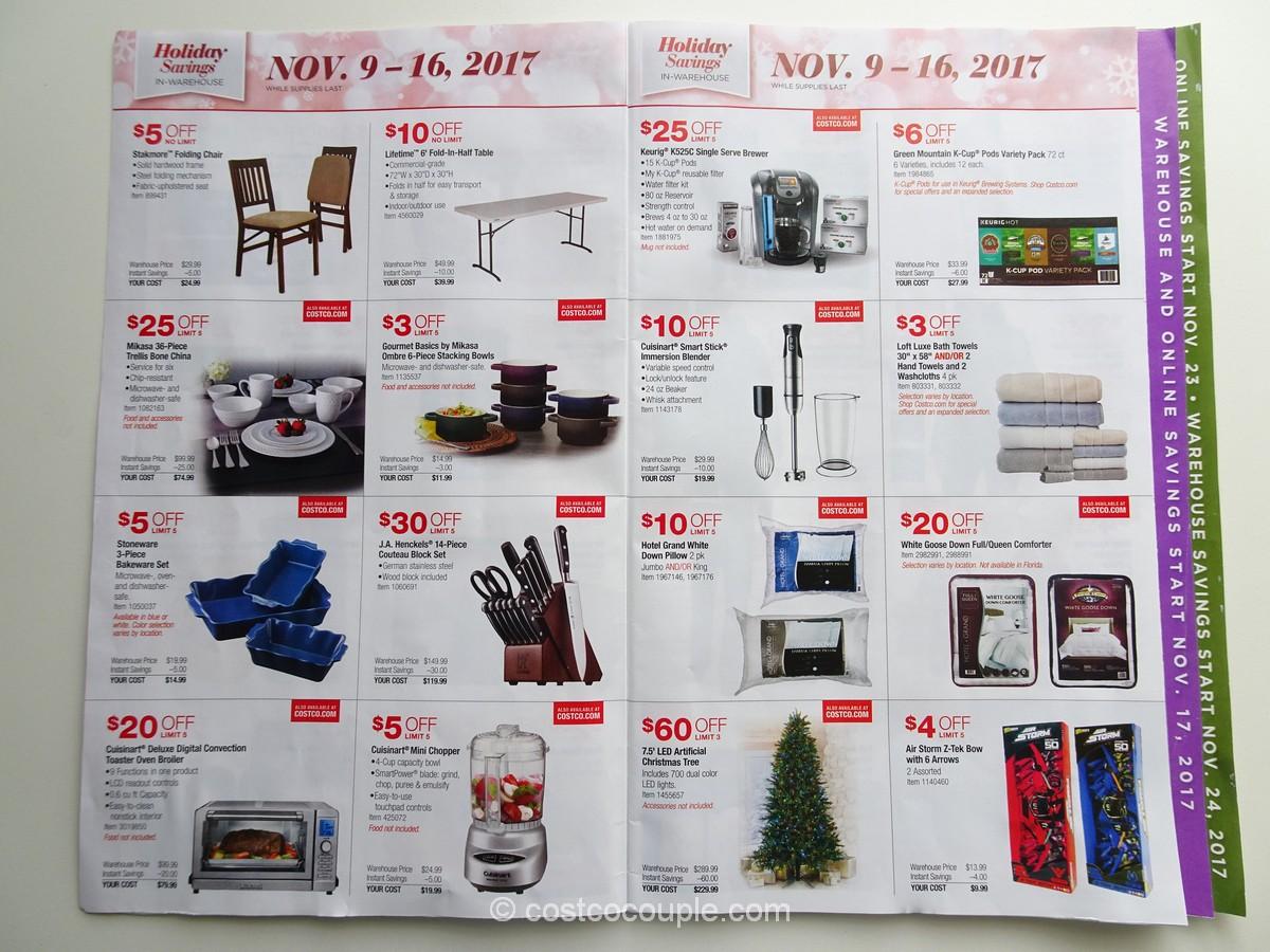 Costco 2017 Holiday Savings