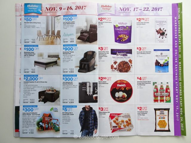 Costco 2017 Holiday Savings