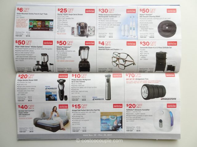 Costco December 2017 Coupon Book 11/28/17 to 12/24/17