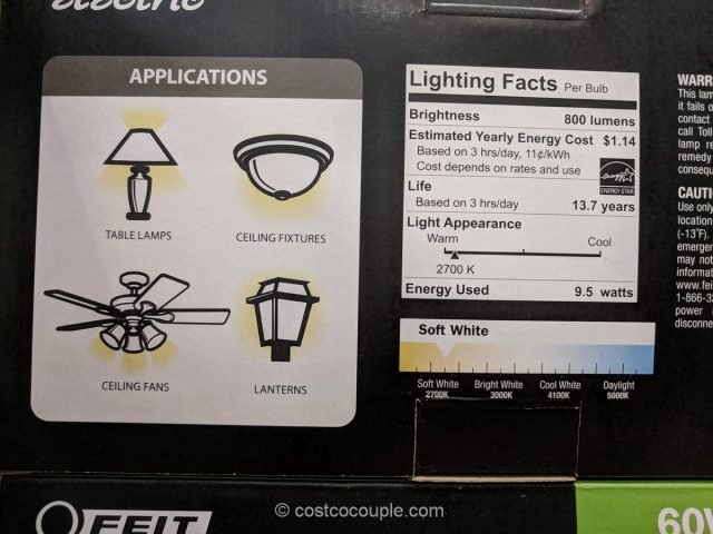 Feit Electric 9.5W Dimmable LED Bulb Costco