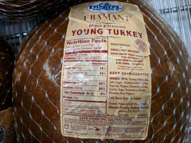 Framani Brined and Seasoned Young Diestel Turkey Costco