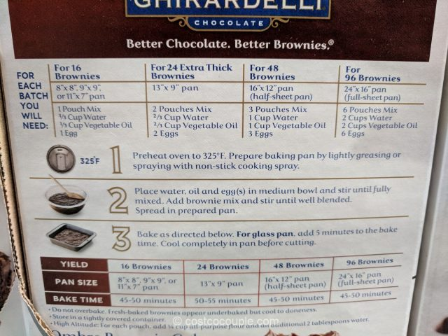 Ghirardelli Triple Chocolate Browne Mix Costco