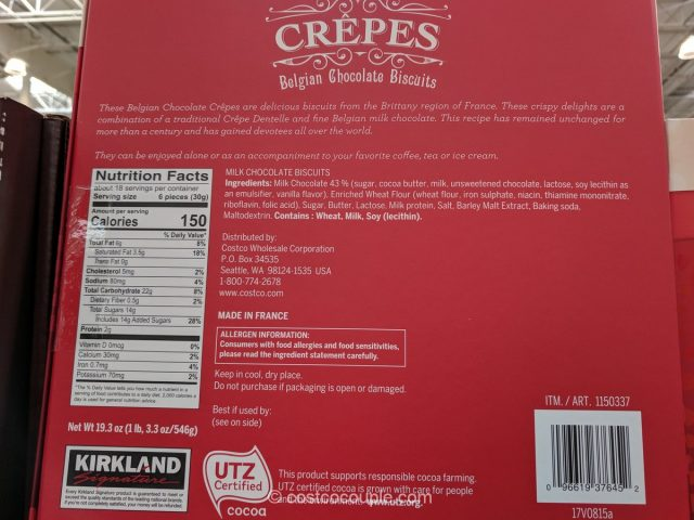 Kirkland Signature Belgian Chocolate Crepes Costco