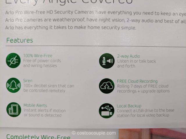 Netgear Arlo Pro Security System Costco