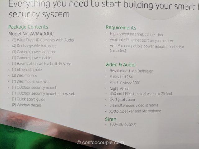 Netgear Arlo Pro Security System Costco