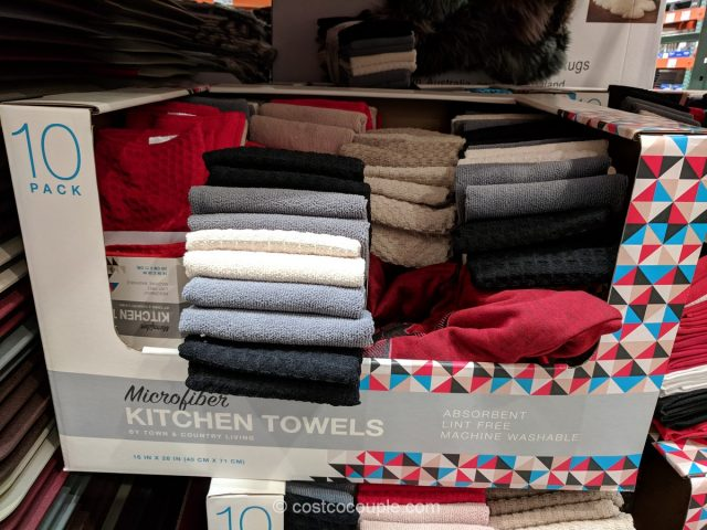 Costco Kitchen Towels | Town And Country Living Microfiber Kitchen Towels