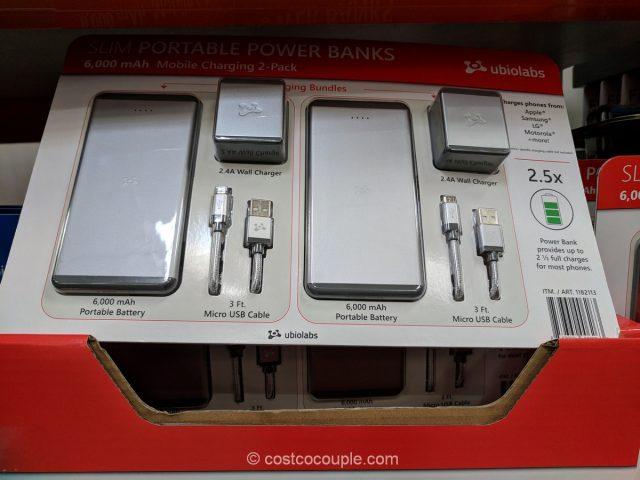 Ubio Labs Slim Portable Power Bank Costco