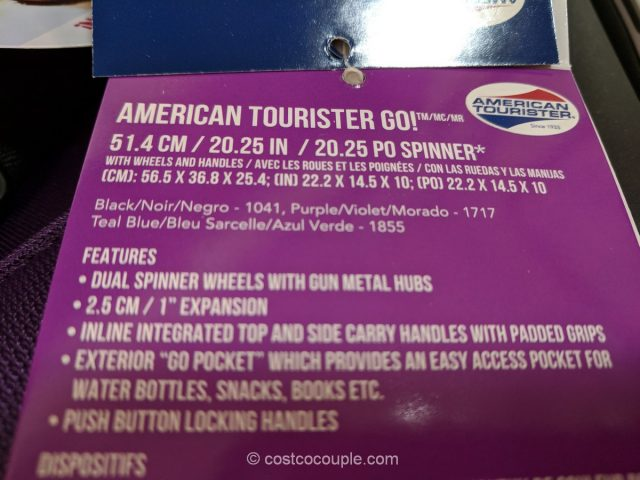 American Tourister Softside Spinner Costco