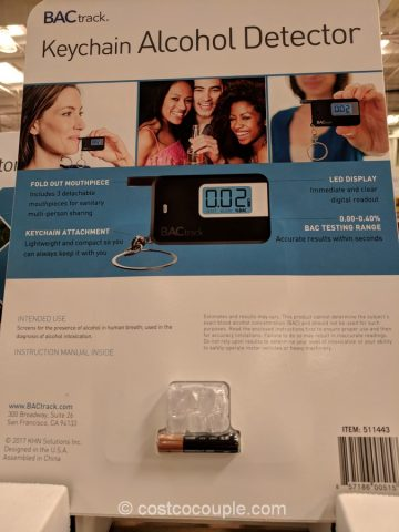 Bactrack Keychain Alcohol Detector Costco