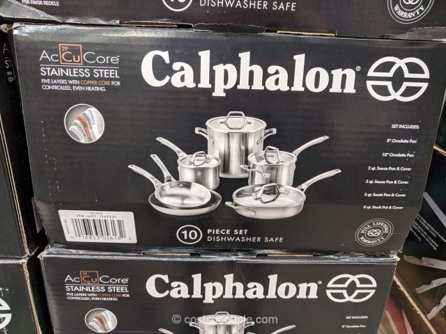 Calphalon 10-Piece Stainless Steel Cookware Costco