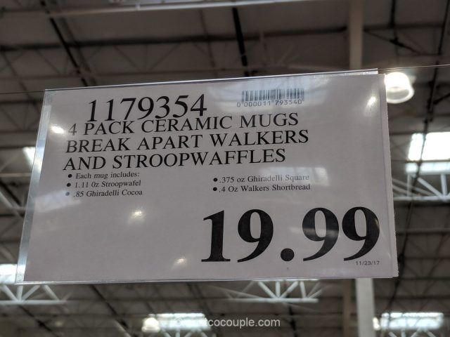 Ceramic Mugs with Walkers and Stroopwaffles Costco