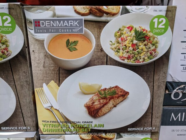 Denmark 12-Piece Dinnerware Set Costco