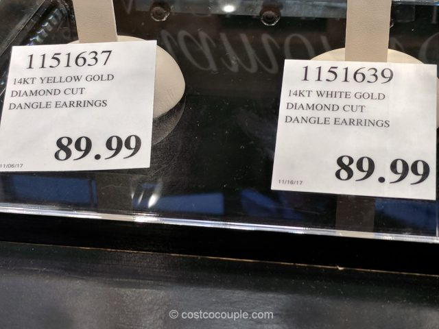 Diamond Cut Dangle Earrings Costco