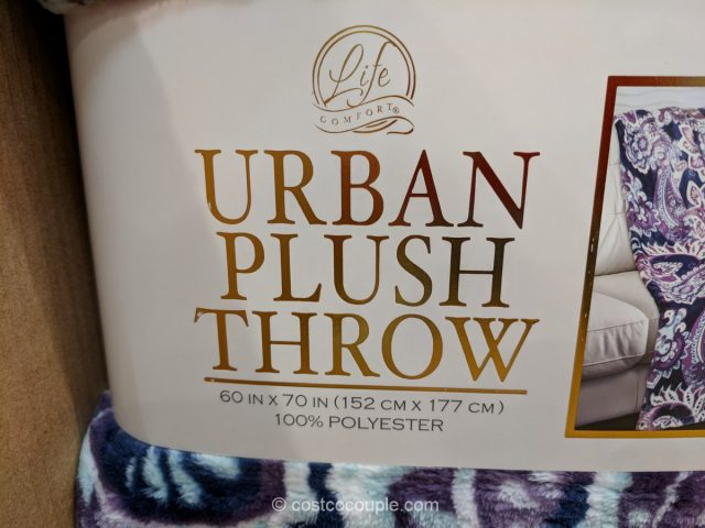 Life Comfort Urban Plush Throw