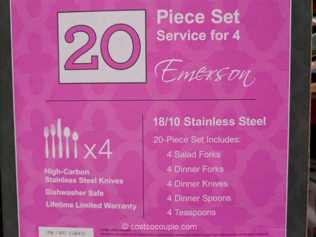 Towle Emerson Stainless Steel Flatware Set