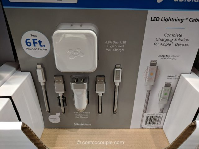 Ubio Labs Lightning Cable Charging Kit Costco