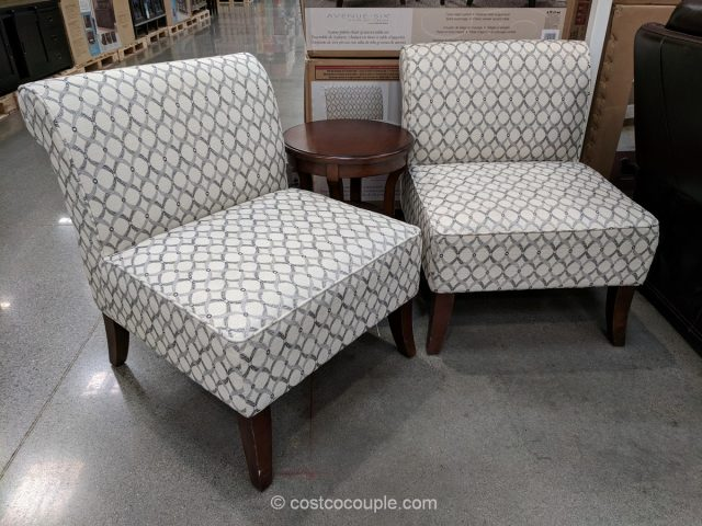 & Ave Six 3-Piece Fabric Chair and Accent Table Set