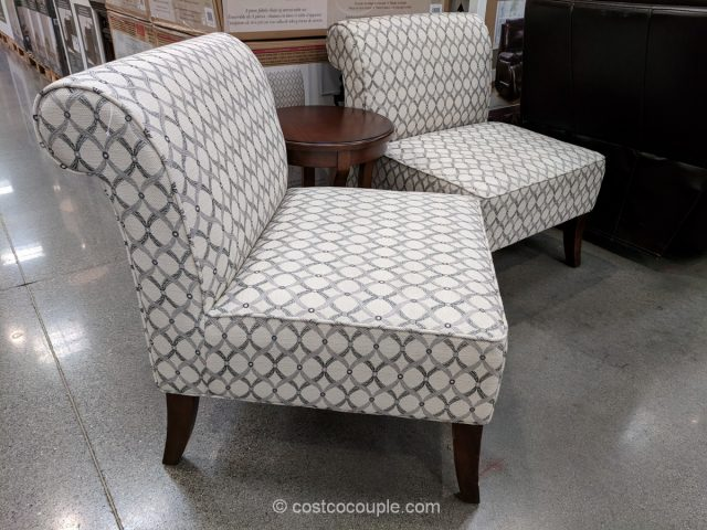 Ave Six 3 Piece Fabric Chair And Accent Table Set Costco ...