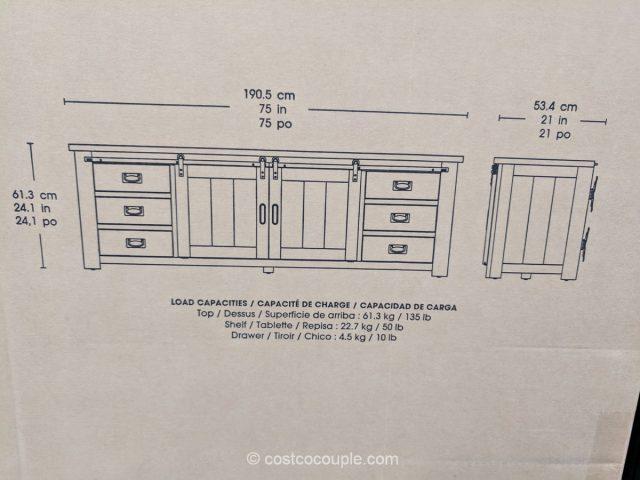 Bayside Furnishings TV Console Costco