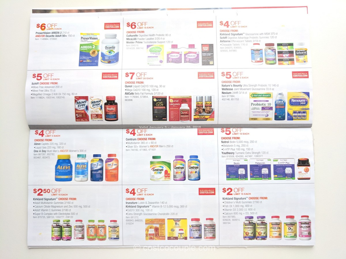 Costco January Coupon Book 01 03 18 To 01 28 18