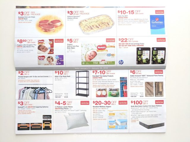 Costco January Coupon Book 01/03/18 to 01/28/18