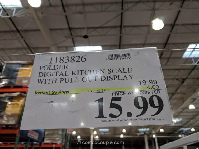 Polder Digital Kitchen Scale Costco