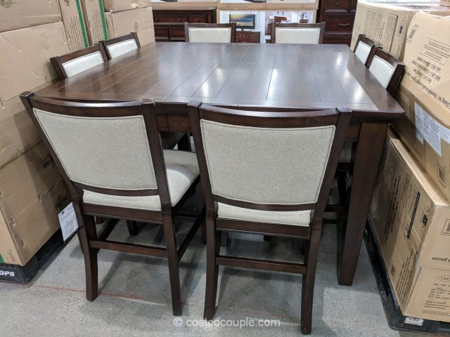 Pulaski Furniture 9-Piece Counter Height Dining Set Costco
