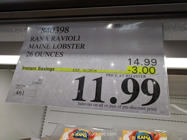 Rana Maine Lobster Ravioli Costco