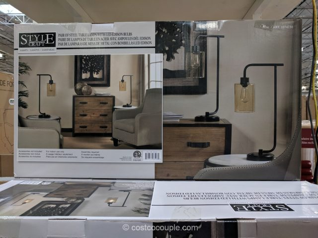 Stylecraft Collection Table Lamp Set Costco
