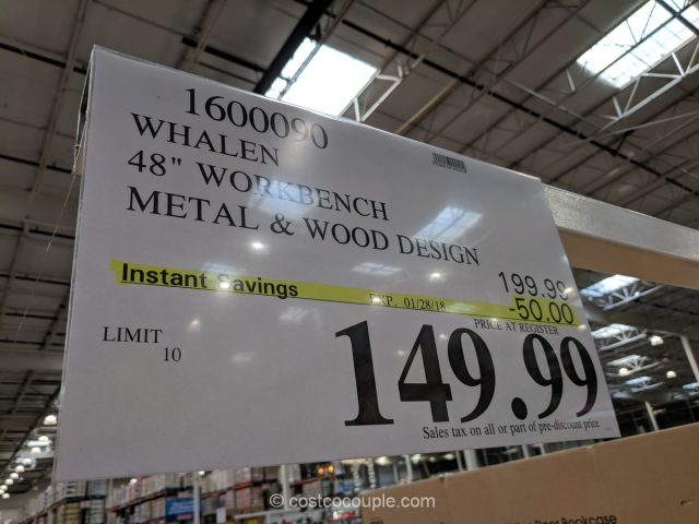 Whalen Industrial Metal and Wood Workbench Costco