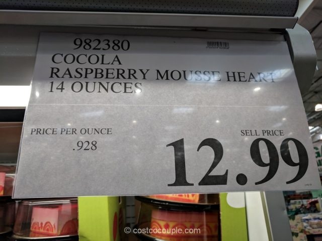 Cocola Raspberry Mousse Heart Costco