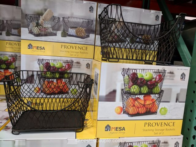 Mesa Provence Stacking Storage Baskets Costco