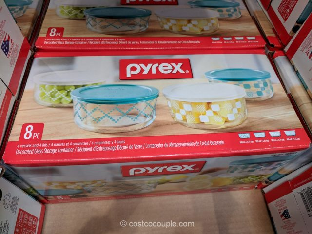 Pyrex 8-Piece Decorative Glass Storage Set Costco