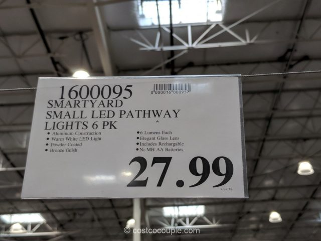 SmartYard Solar LED Pathway Lights Costco