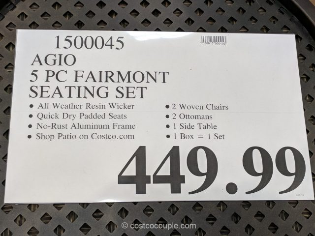 Agio Fairmont Seating Set Costco