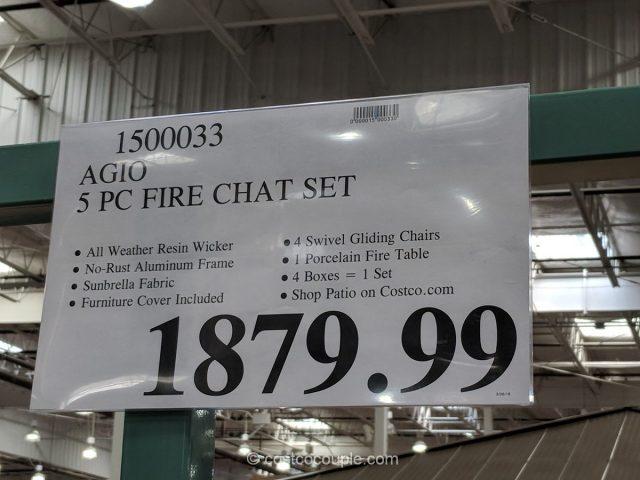 Agio 5 Piece Fire Chat Set