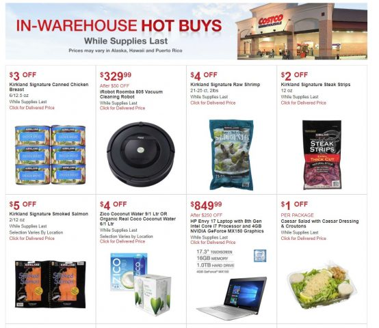 Costco In-Warehouse Hot Buys March 2018