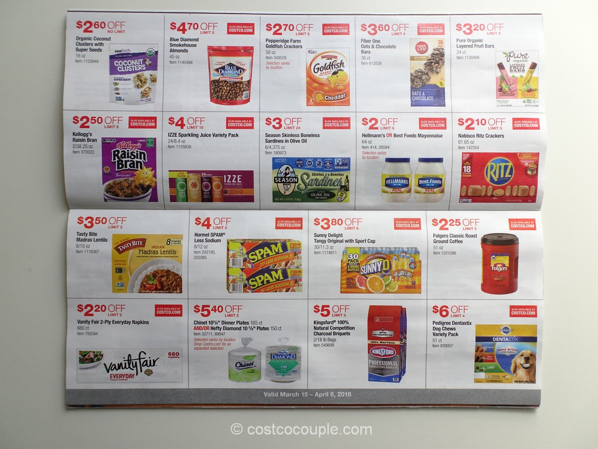 Costco March 2018 Coupon Book 03 15 18 To 04 08 18