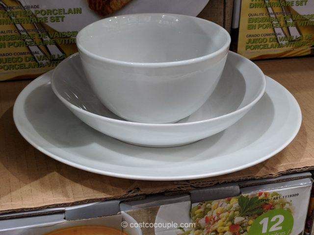 denmark 12-piece porcelain dinnerware set